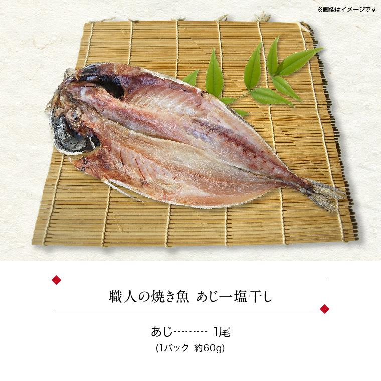 職人の焼き魚 あじ(セット内容)