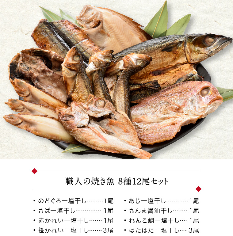 職人の焼き魚 8種12尾(セット内容)