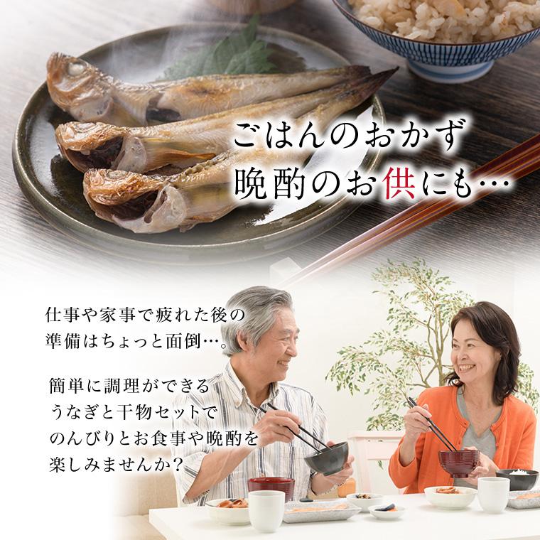 うなぎと干物(ご飯のおかず・晩酌)