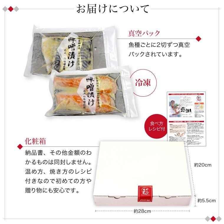 味噌漬け4種(お届けについて)