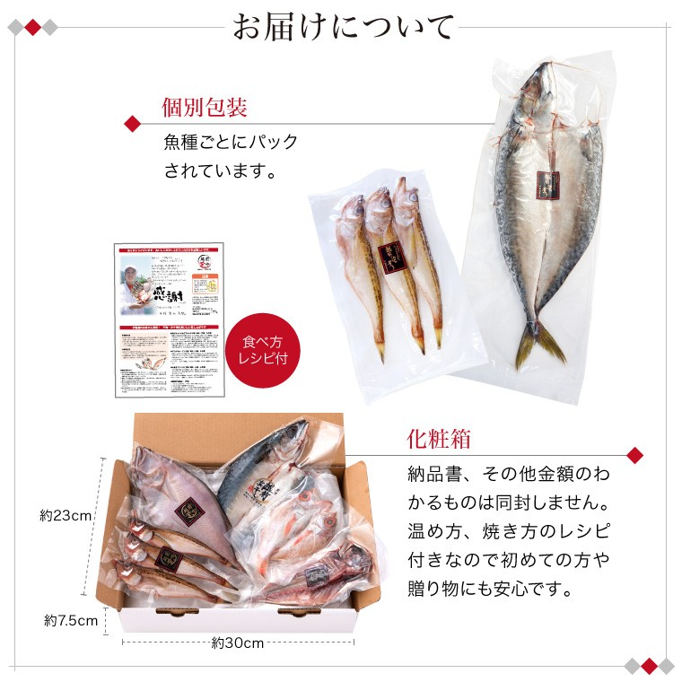 お魚晩ごはん5種7品-お届けについて