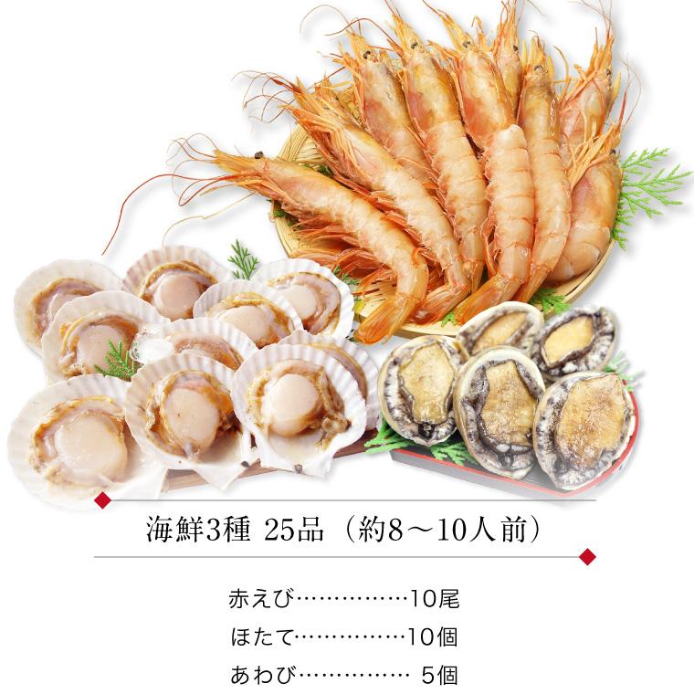 海鮮3種25品-セット内容