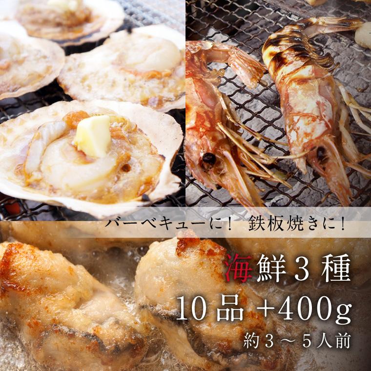 海鮮3種10品+400g-イメージ